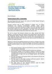 Consultation letter for 2013 General Licences - Scottish Natural ...