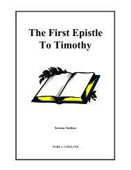 The First Epistle To Timothy - Executable Outlines