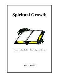 Spiritual Growth - Executable Outlines