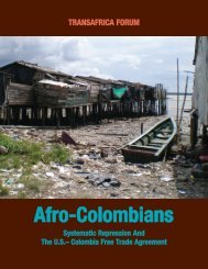 Afro-Colombians - Citizens Trade Campaign