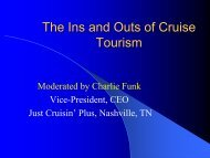 The Ins and Outs of Cruise Tourism - Caribbean Tourism Organization
