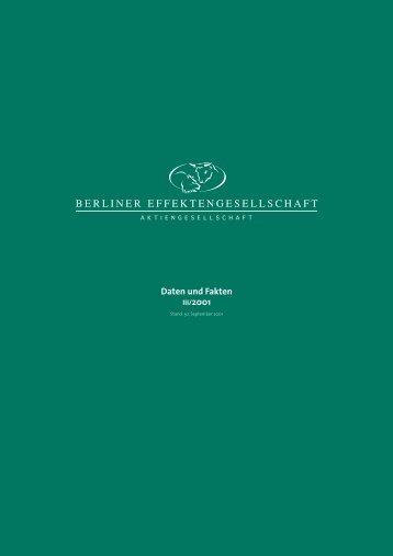 3. Quartal 2001 - Berliner Effektengesellschaft AG