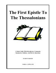 The First Epistle To The Thessalonians - Executable Outlines