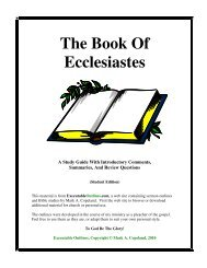 The Book Of Ecclesiastes - Executable Outlines