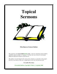 Topical Sermons - Executable Outlines