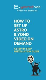 HOW TO SET UP ASTRO B.YOND VIDEO ON DEMAND