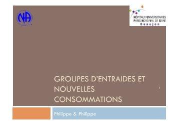 GROUPES D'ENTRAIDES ET NOUVELLES CONSOMMATIONS - SFA