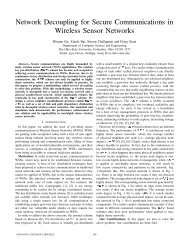 Network Decoupling for Secure Communications in Wireless Sensor ...
