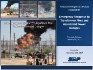 Emergency Response to Transformer Fires and Associated ... - AESA