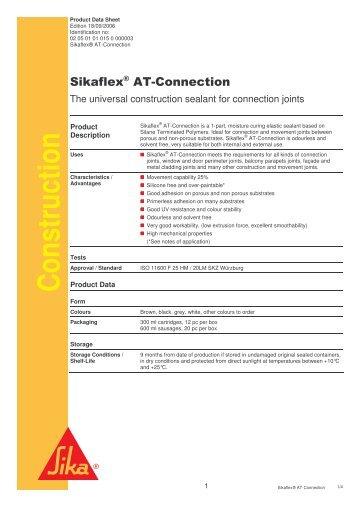 Thioflex 600 gun grade epms supplies - Sikaflex at connection ...