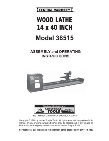 wood-lathe-harbor-freight-tools Harbor Freight Mini Mill Wiring Diagram on