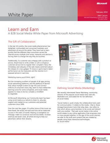 A white Paper from Microsoft Advertising - TourismTechnology.com