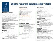 Winter 07-08 schedule - National Ability Center