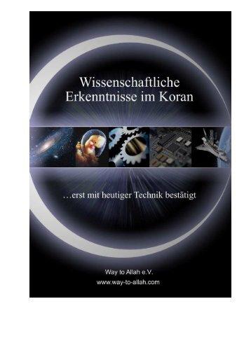 Wissenschaftliche Erkenntnisse im Koran - Way to Allah