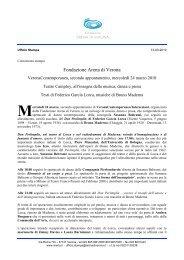 Fondazione Arena di Verona - Verona Contemporanea Festival