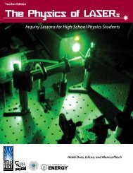 The Physics of LASERs - American Physical Society