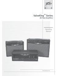 ESPAÑOL ValveKing™ Series 100/112/212 - zZounds.com