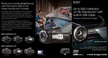 Up to £60 cashback* on HD Handycam® with built-in ... - E-Merchant