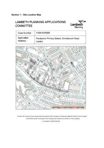 Fenstanton Primary School, Christchurch Road ... - Lambeth Council