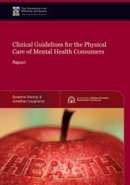 Clinical Guidelines for the Physical Care of Mental Health Consumers