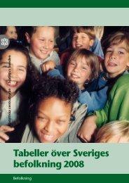 Tabeller över Sveriges befolkning2008 (pdf) - Statistiska centralbyrån