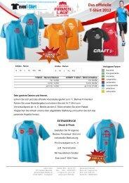 Das offizielle T-Shirt 2012 - Berliner Firmenlauf