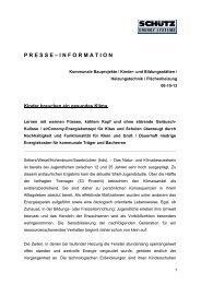 P R E S S E – I N F O R M A T I O N - Schutz GmbH & Co. KGaA
