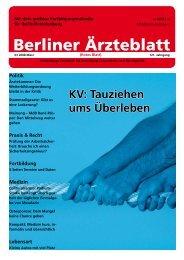 Politik - Berliner Ärzteblatt