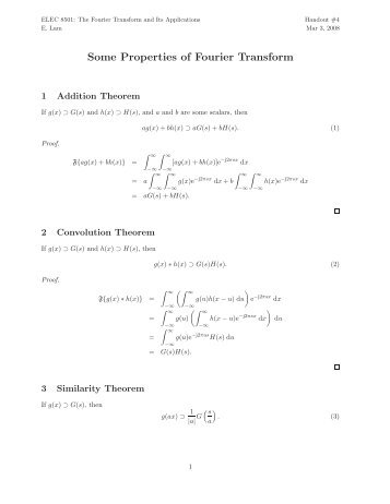 Some Properties of Fourier Transform