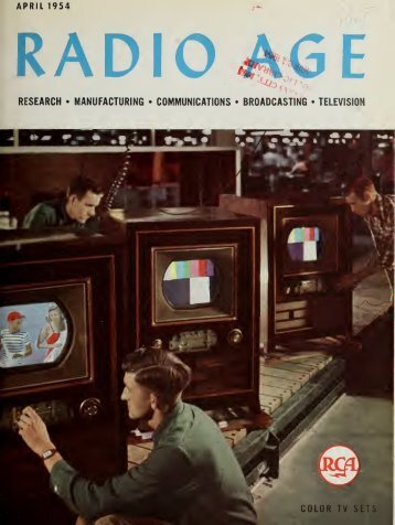Radio Age - 1954, April - 34 Pages, 2.7 MB, .PDF - VacuumTubeEra