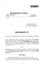 Rozhodnutí č. j. MK 66574/2012 OPP ze - Ministerstvo kultury