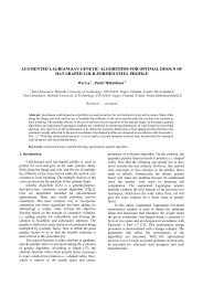 augmented lagriangian genetic algorithms for optimal design of hat ...
