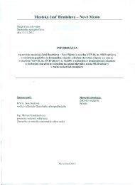 Stanovisko k VZN hl. mesta SR Ba o poplatkoch za ... - Nové Mesto