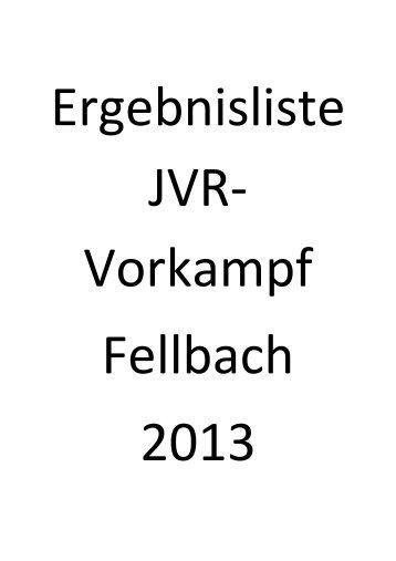 JVR-Vorkampf am 05.05.2013 in Fellbach