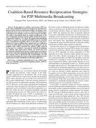 Coalition-Based Resource Reciprocation Strategies ... - IEEE Xplore
