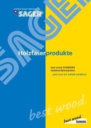 Holzfaserprodukte - Sager AG