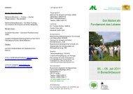 Der Boden als Fundament des Lebens 06. – 08. Juli 2011 in ...