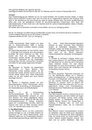 Reisebericht Februar/März 2010, deutsch - Hilfe für Südwest Sri Lanka