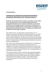28.11.2012 - EiszeitQuell stiftet Mammut für Kinderschutzbund