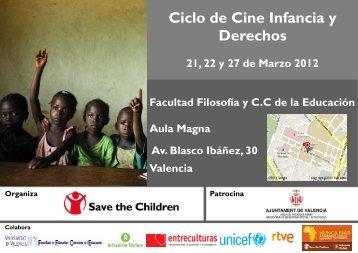 Programa ciclo de cine Infancia y Derechos - Save the Children