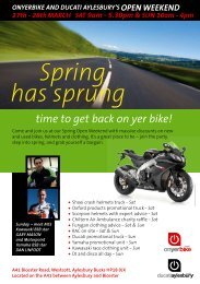 Spring has sprung - On Yer Bike
