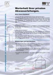 Merkblatt private Abwasserleitungen - Gemeinde Herznach