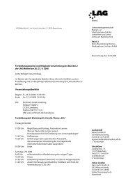 Fortbildungsangebot und Mitgliederversammlung des Bezirkes 2 ...