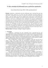 O valor estratégico da informação para a gestão das ... - Simpep