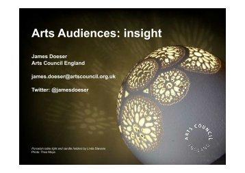 James Doesers presentasjon. - Norsk publikumsutvikling