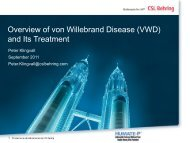 Overview of von Willebrand Disease (VWD) and Its Treatment