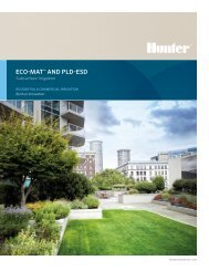 Eco-Mat and PLD-ESD Brochure - Hunter Industries