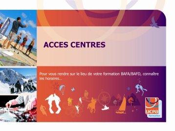 acces centres - Ucpa