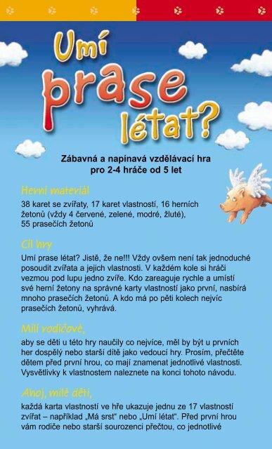 Herní materiál Cíl hry Milí rodicové, Ahoj, milé deti, - modernihry.cz