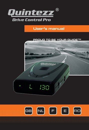 Drive Control Pro manual GB - Quintezz